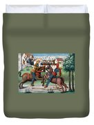 Jousting Knights, 1499 Duvet Cover