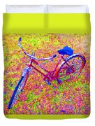 Joy, The Bike Ride Duvet Cover