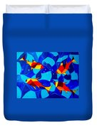 Joy Fish Abstract Duvet Cover