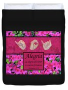 Joy Of The Lord Spanish Duvet Cover