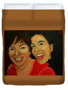 Joyce And Gina Duvet Cover