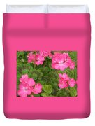 Joyful Geranium  Duvet Cover
