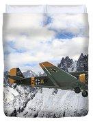 Ju52 - Alpine Passage Duvet Cover