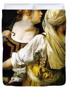 Judith And Her Maidservant 1613 Duvet Cover