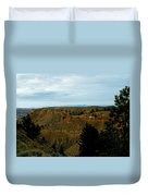 Judith River Cliffs Duvet Cover