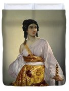 Judith With Thedecapitated Head Of Holofernes  Duvet Cover