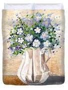 Jug Bouquet Duvet Cover