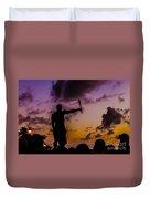 Juggler At Sunset Duvet Cover