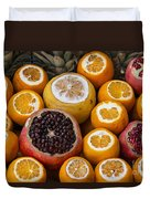 Juice Stand Fruits Duvet Cover