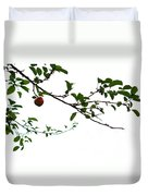 Juicy   A Tempting Photograph Of A Tasty Ripe Red Apple On A Tree  Duvet Cover