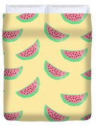 Juicy Watermelon Duvet Cover