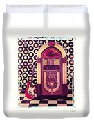 Juke Box Polaroid Transfer Duvet Cover