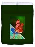 Julia Heliconian Butterfly In Iguazu Falls National Park-brazil Duvet Cover