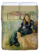 Julie Manet And Her Greyhound Laerte Duvet Cover