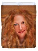Julorobani - Julia Roberts Portrait Duvet Cover