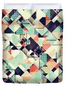 Jumble Of Colors And Texture Duvet Cover