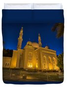 Jumeirah Mosque In Dubai, Uae Duvet Cover