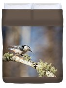 Jump - White-breasted Nuthatch Duvet Cover
