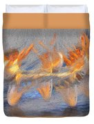 Jumped Over The Freeway - Dancing California Fires Duvet Cover