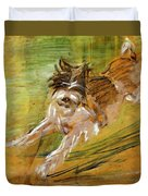 Jumping Dog Schlick 1908 Duvet Cover