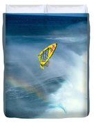 Jumping The Spray Duvet Cover by Erik Aeder - Printscapes