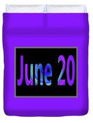 June 20 Duvet Cover