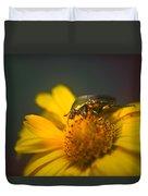 June Beetle Exploring Duvet Cover