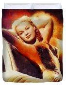 June Haver, Vintage Hollywood Actress Duvet Cover