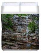 June Morning At Awosting Falls Duvet Cover