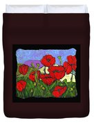June Poppies Duvet Cover