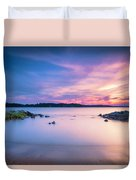 June Sunset On The River Duvet Cover