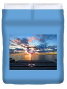 June Sunset Over Wolfe Island Duvet Cover