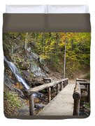 Juney Whank Falls And A Place To Rest Duvet Cover