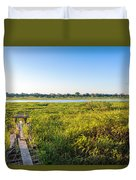 Jungle And Lake Duvet Cover