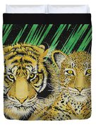Jungle Cats Duvet Cover