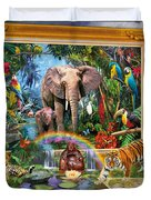 Jungle Coming Duvet Cover