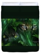 Jungle Eyes - Panther And Ocelot  Duvet Cover