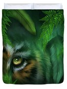 Jungle Eyes - Tiger And Panther Duvet Cover