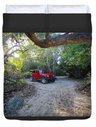 Jungle Jeep Duvet Cover