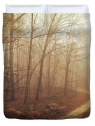 Jungle Journey - The Path Sepia Duvet Cover