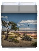Juniper Tree On A Mesa Duvet Cover