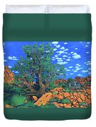 Juniper Trees And Deer Duvet Cover