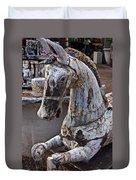 Junkyard Horse Duvet Cover