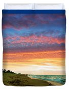 Juno Beach Florida Sunrise Seascape D7 Duvet Cover