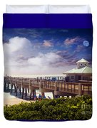 Juno Beach Pier Treasure Coast Florida Seascape Dawn C5a Duvet Cover