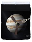 Juno Mission To Jupiter Duvet Cover