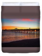 Juno Pier Colorful Sunrise Panoramic Duvet Cover