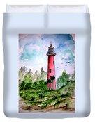 Jupiter Florida Lighthouse Duvet Cover