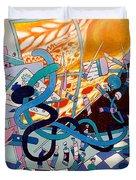 Jupiter Flyby - View From Artist Studio #1 Duvet Cover