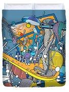 Jupiter Flyby - View From Pho Restaurant #1 Duvet Cover